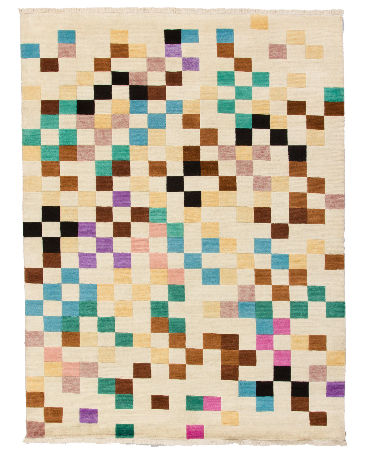 Pixel mönstrad matta Bhutan från Nepal på ljus botten