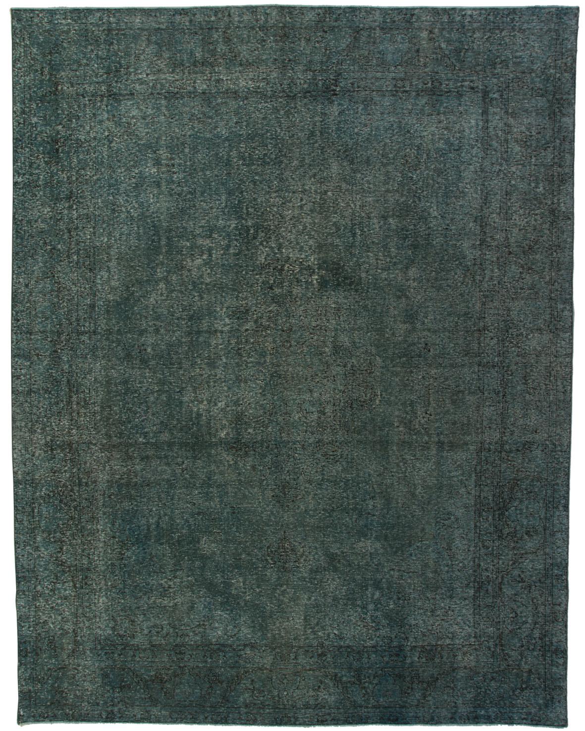 Handknuten blå vintage Decolorized matta