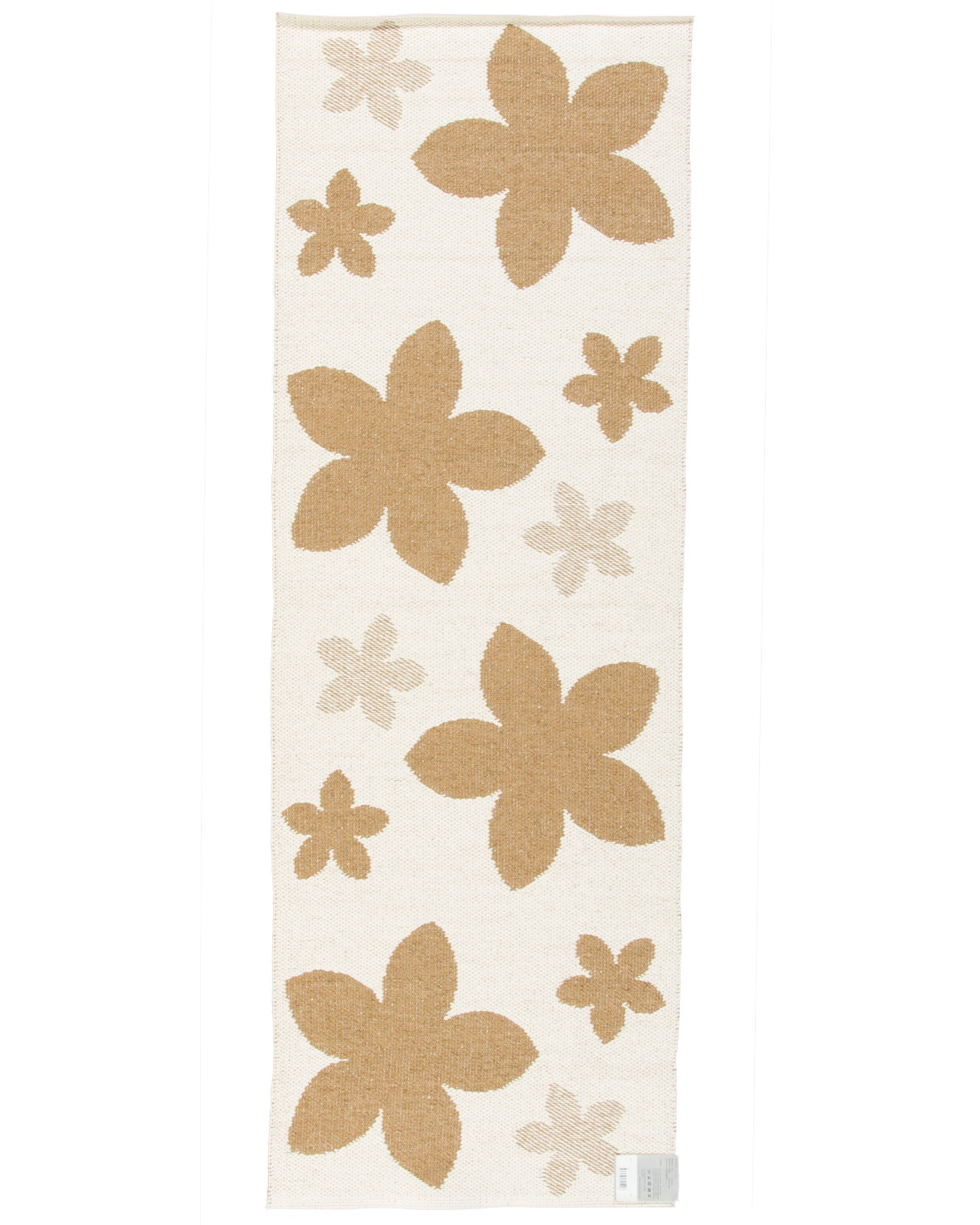Anemon brun plastmatta från svenska Horredsmattan ena sidan