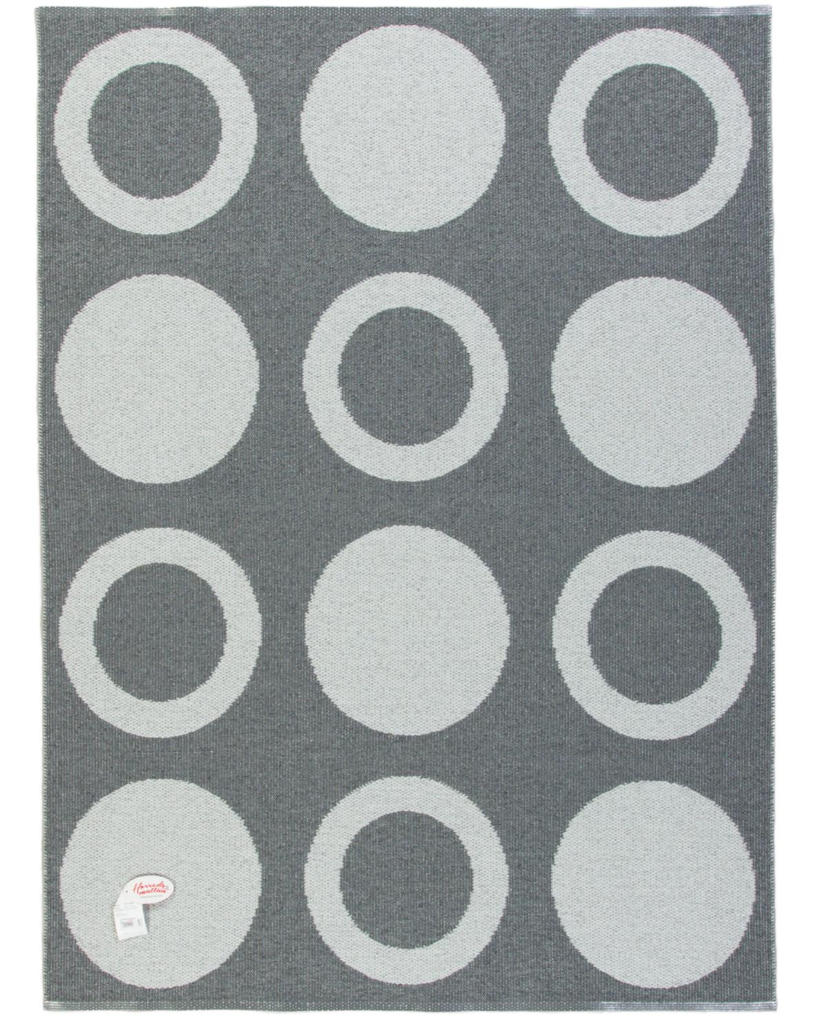 Plastmatta Circle mörkgrå sidan från Horredsmattan är dubbelsidig med omvända färger