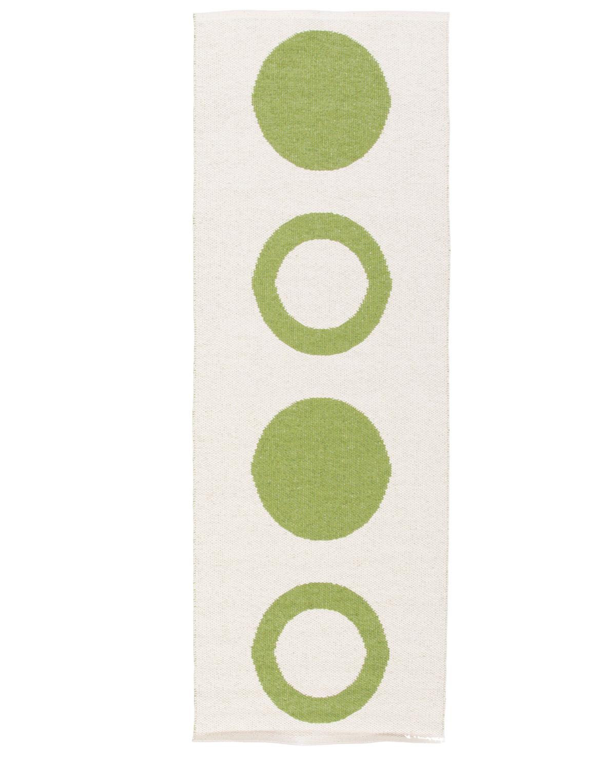 Circle grön plastmatta från svenska Horredsmattan ena sidan