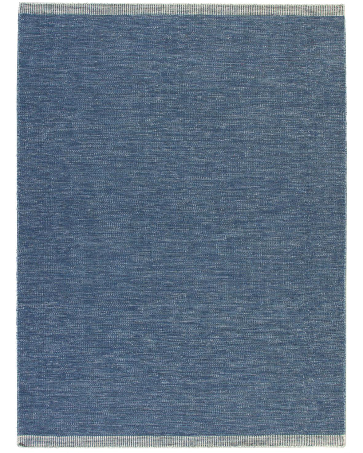Blåmellerad handvävd ullmatta Öland