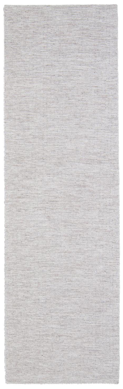Modern handvävd ullmatta Afro plain vit med mellerad botten