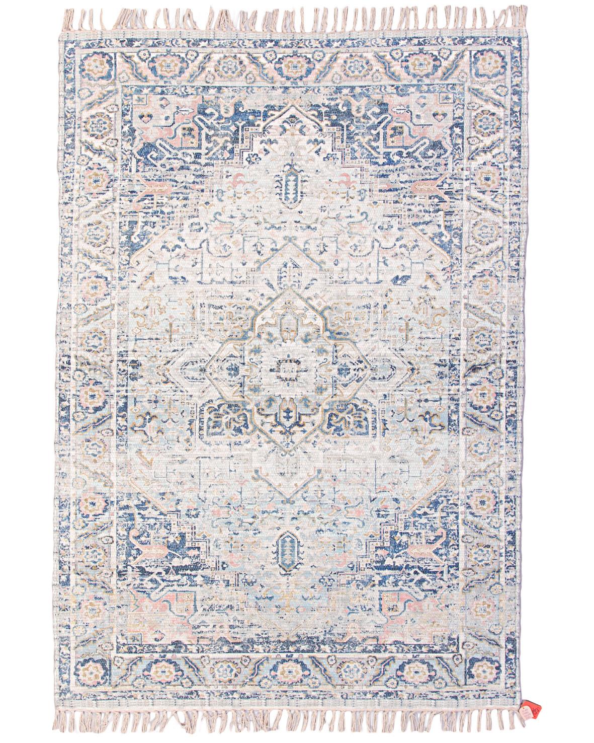 Exempelbild Chindi des17 handvävd bomullsmatta med orientaliskt mönster från Polytuft
