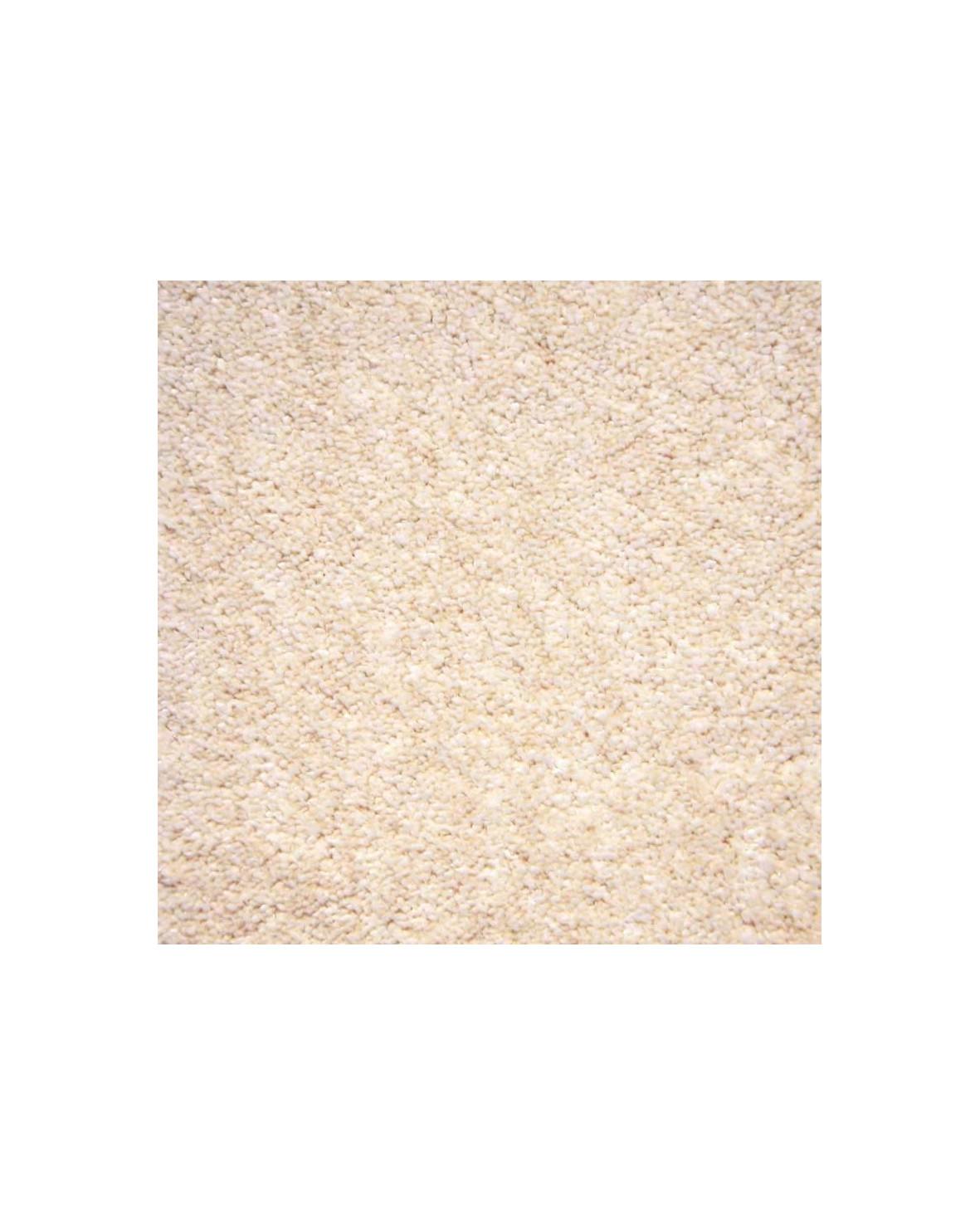 Glam velour sand 171 heltäckningsmatta med hög lugg