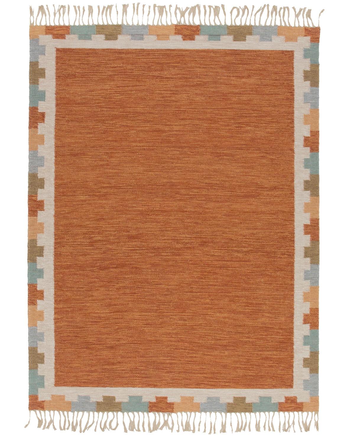 Röllakan Läckö 171x235cm klassiskt mönstrad ljus Rölakan matta med linvarp hos NESSIMS