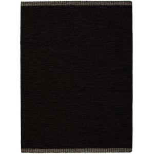 Bildexempel Öland 170x230cm handvävd svart enfärgad ullmatta hos Nessims
