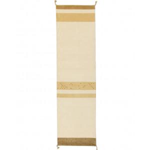 Exempelbild Home Sahara vit 80x300cm handknuten ullmatta hos Nessims