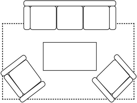 Placering av matta vid soffgrupp-1.